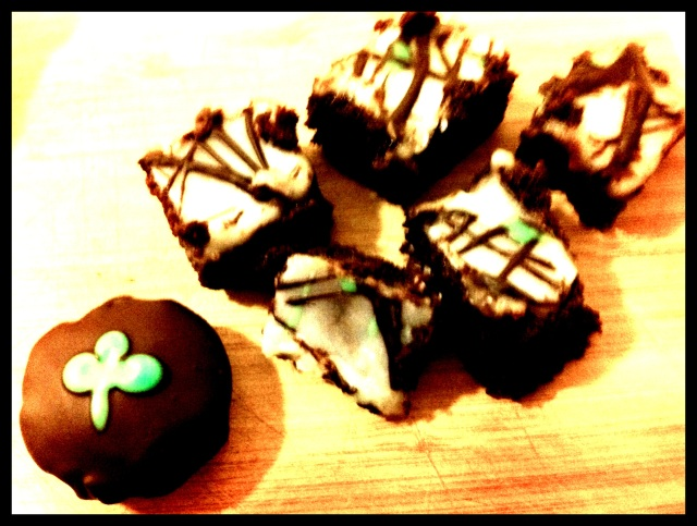 shamrocks brownies