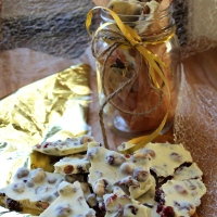 Cranberry Hazelnut White Chocolate Bark