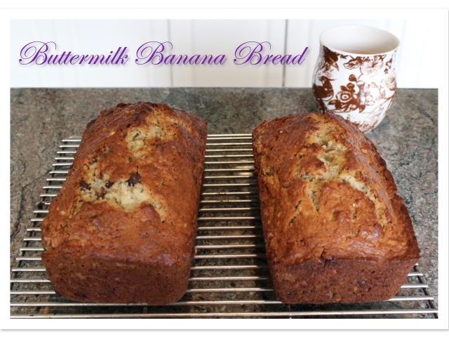 Buttermilk Banana Bread | Blue Owl Treats