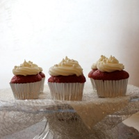 Red Velvet Cupcakes with Cream Cheese Buttercream Frosting