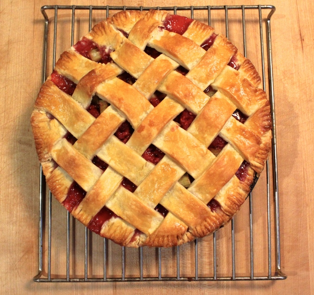 Raspberry-Rhubarb Pie | Blue Owl Treats
