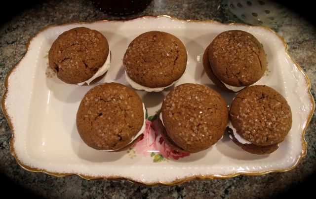 Bourbon Gingersnap Whoopie Pies | Blue Owl Treats