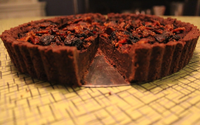 Chocolate Truffle Torte with Candied Bacon | Blue Owl Treats