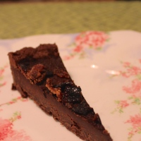 Chocolate Truffle Tart with Candied Bacon