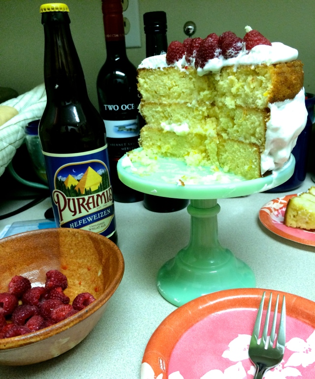Lemon Hefeweizen Cake | Blue Owl Treats