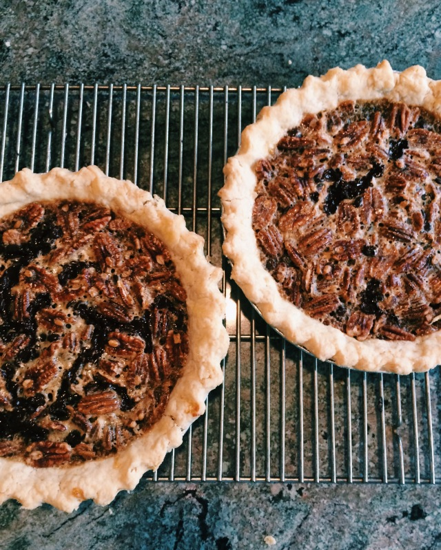 Chocolate Bourbon Pecan Pie | Blue Owl Treats