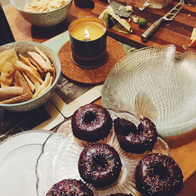 Chocolate Dipped Doughnuts   Blue Owl Treats