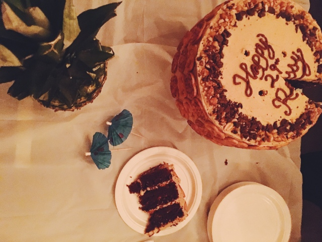 Chocolate Pretzel Peanut Butter Layer Cake   Blue Owl Treats