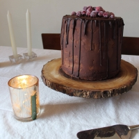 Triple Chocolate Christmas Ganache Cake